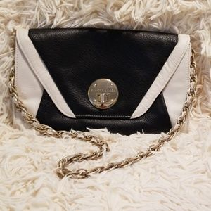 Elliott Lucca Black & White Leather Purse/Clutch